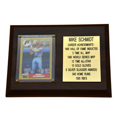 """Mike Schmidt Philadelphia Phillies 8"""" x 6"""" Baseball Card Deluxe Plaque"""