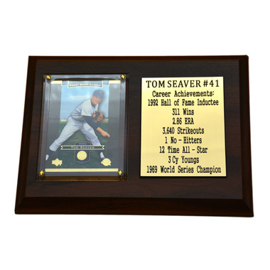 "Tom Seaver New York Mets 8"" x 6"" Baseball Card Deluxe Plaque"