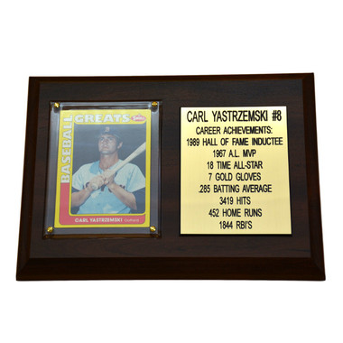 "Carl Yastrzemski Boston Red Sox 8"" x 6"" Baseball Card Deluxe Plaque"