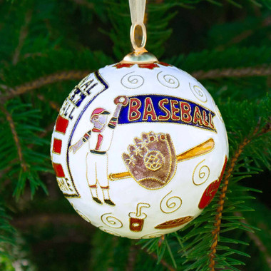 Baseball Hall of Fame Kitty Keller Equipment Ornament