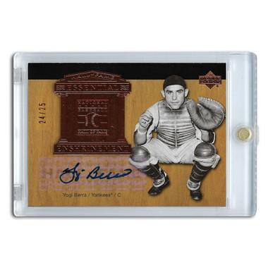 Yogi Berra Autographed Card 2005 Upper Deck Essential Enshrinement Ltd Ed of 25