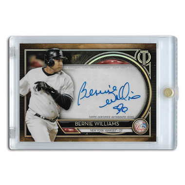 Bernie Williams Autographed Card 2020 Topps Tribute Ltd Ed of 110
