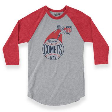 Unisex Teambrown Kenosha Comets AAGPBL Longsleeve Baseball Shirt
