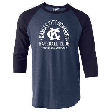Unisex Teambrown Kansas City Monarchs Champions Collection Longsleeve Baseball Shirt