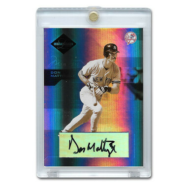 Don Mattingly Autographed Card 2005 Leaf Lmited # 159 Ltd Ed of 25