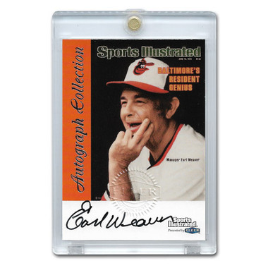 Earl Weaver Autographed Card 1999 Fleer Sports Illustrated Greats