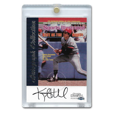 Kent Hrbek Autographed Card 1999 Fleer Sports Illustrated Greats