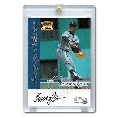 Tommy John Autographed Card 1999 Fleer Sports Illustrated Greats