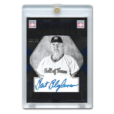 Bert Blyleven Autographed Card 2015 Panini Cooperstown Blue # 4 Ltd Ed of 25
