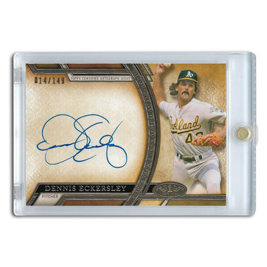 Dennis Eckersley Autographed Card 2015 Topps Tier One Ltd Ed of 149