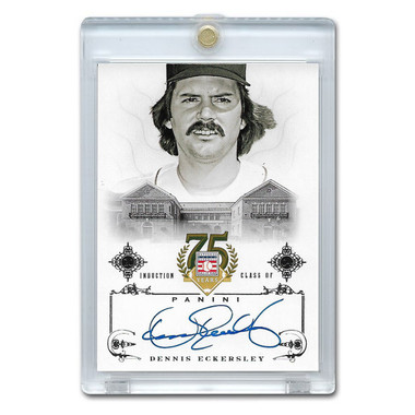 Dennis Eckersley Autographed Card 2014 Panini Cooperstown HOF 75th Anniversary # 78