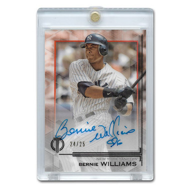 Bernie Williams Autographed Card 2019 Topps Tribute Ltd Ed of 25