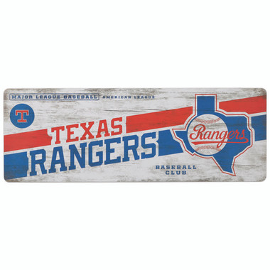 Open Road Texas Rangers 10 x 28 Wood Cooperstown Collection Wall Art