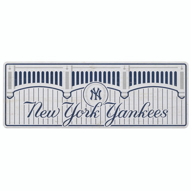 Open Road New York Yankees 10 x 28 Wood Cooperstown Collection Wall Art