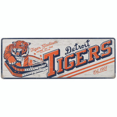 Open Road Detroit Tigers 10 x 28 Wood Cooperstown Collection Wall Art