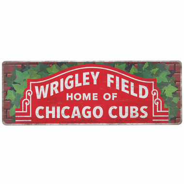 Open Road Chicago Cubs 10 x 28 Wood Cooperstown Collection Wall Art