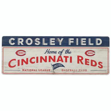 Open Road Cincinnati Reds 10 x 28 Wood Cooperstown Collection Wall Art
