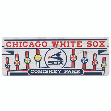 Open Road Brands Chicago White Sox 10 x 28 Wood Vintage Wall Art