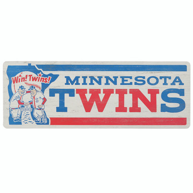 Open Road Minnesota Twins 10 x 28 Wood Cooperstown Collection Wall Art