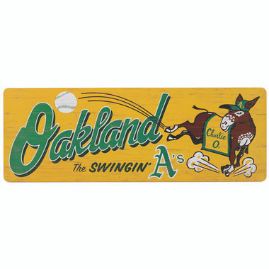 Open Road Oakland Athletics 10 x 28 Wood Cooperstown Collection Wall Art