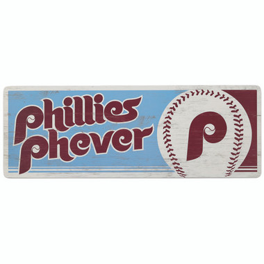 Open Road Philadelphia Phillies 10 x 28 Wood Cooperstown Collection Wall Art