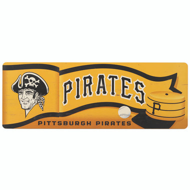 Open Road Pittsburgh Pirates 10 x 28 Wood Cooperstown Collection Wall Art