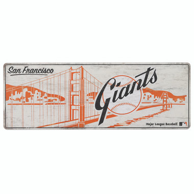 Open Road San Francisco Giants 10 x 28 Wood Cooperstown Collection Wall Art
