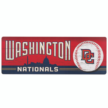 Open Road Washington Nationals 10 x 28 Wood Cooperstown Collection Wall Art