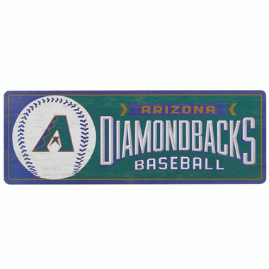 Open Road Arizona Diamondbacks 10 x 28 Wood Cooperstown Collection Wall Art