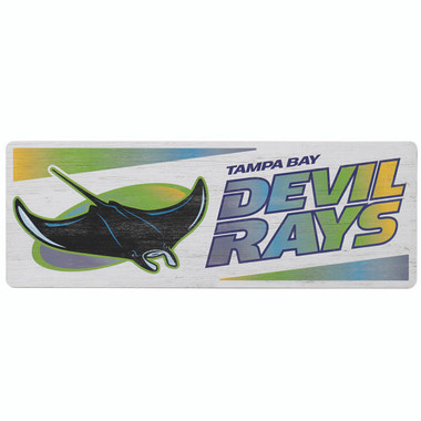 Open Road Tampa Bay Rays 10 x 28 Wood Cooperstown Collection Wall Art