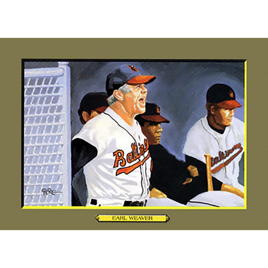 Earl Weaver Perez-Steele Hall of Fame Great Moments Limited Edition Jumbo Postcard # 108