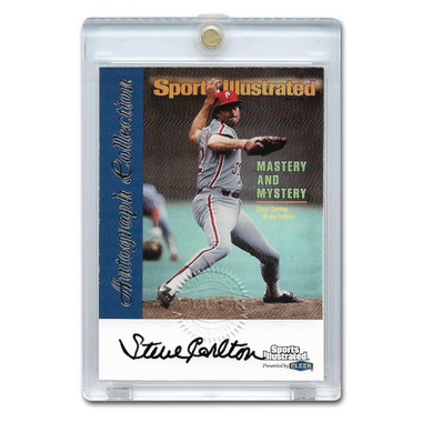 Steve Carlton Autographed Card 1999 Fleer Sports Illustrated Greats