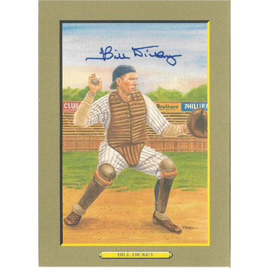 Bill Dickey Autographed Perez-Steele Great Moments Jumbo Postcard # 37 (Beckett-44)