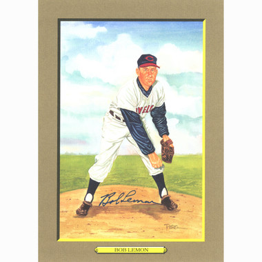 Bob Lemon Autographed Perez-Steele Great Moments Jumbo Postcard # 67 (Beckett)