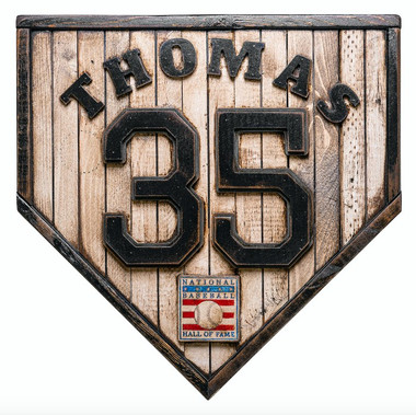 Frank Thomas Hall of Fame Vintage Distressed Wood 17 Inch Legacy Home Plate Ltd Ed of 250
