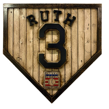 Babe Ruth Hall of Fame Vintage Distressed Wood 17 Inch Legacy Home Plate Ltd Ed of 250