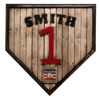 Ozzie Smith Hall of Fame Vintage Distressed Wood 17 Inch Legacy Home Plate Ltd Ed of 250
