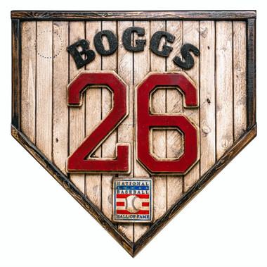 Wade Boggs Hall of Fame Vintage Distressed Wood 17 Inch Legacy Home Plate Ltd Ed of 250