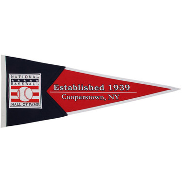 Winning Streak Baseball Hall of Fame Pennant