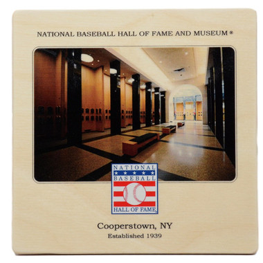 Baseball Hall of Fame Plaque Gallery Wooden Coaster
