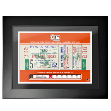 Baltimore Orioles 1970 World Series Game 5 Framed 18 x 14 Ticket