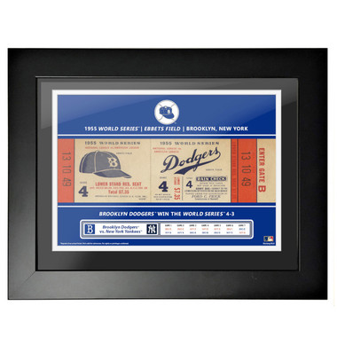 Brooklyn Dodgers 1955 World Series Framed 18 x 14 Ticket