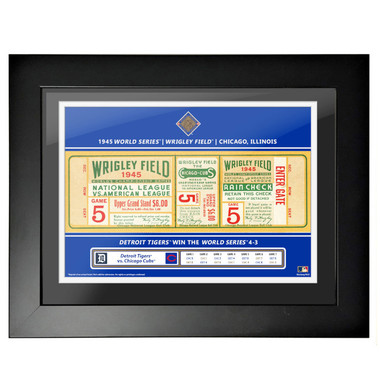 Detroit Tigers 1945 World Series Game 5 Framed 18 x 14 Ticket