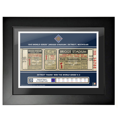Detroit Tigers 1945 World Series Game 1 Framed 18 x 14 Ticket
