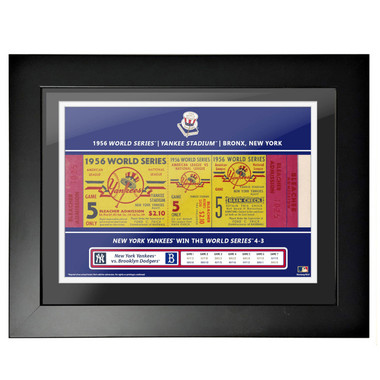 New York Yankees 1956 World Series Framed 18 x 24 Ticket