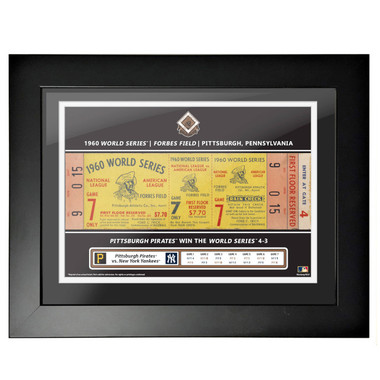 Pittsburgh Pirates 1960 World Series Framed 18 x 14 Ticket