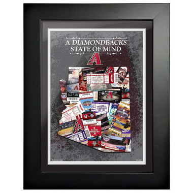 Arizona Diamondbacks State of Mind Framed 18 x 15 Ticket Collage Artwork