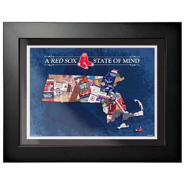 Boston Red Sox State of Mind Framed 18 x 15 Ticket Collage Artwork