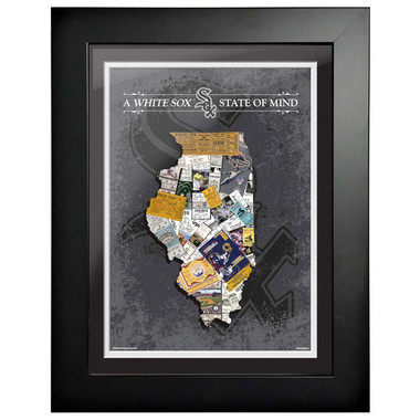 Chicago White Sox State of Mind Framed 18 x 15 Ticket Collage Artwork