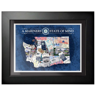 Seattle Mariners State of Mind Framed 18 x 14 Ticket Collage Artwork
